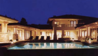 Craftsman Pool at Night