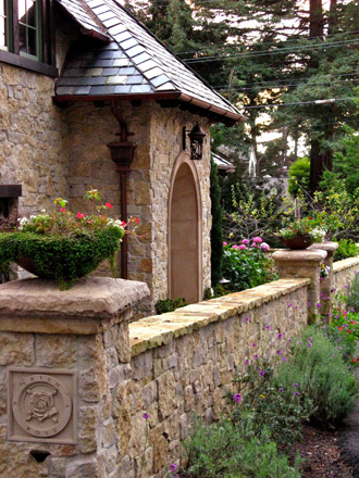 Irish Rose Stone Wall