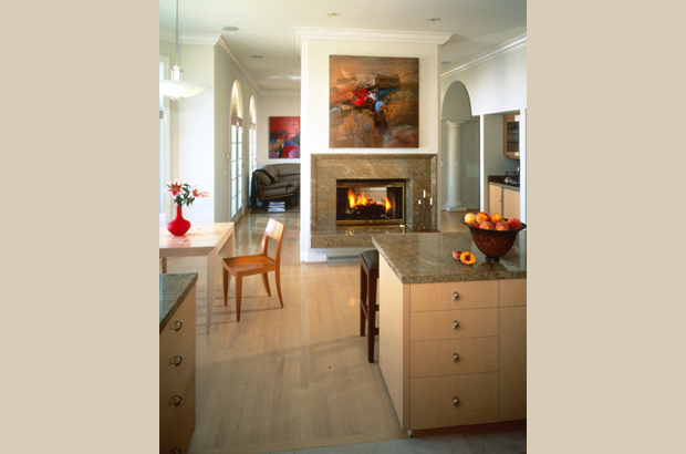 Mediterranean | Kitchen Fireplace